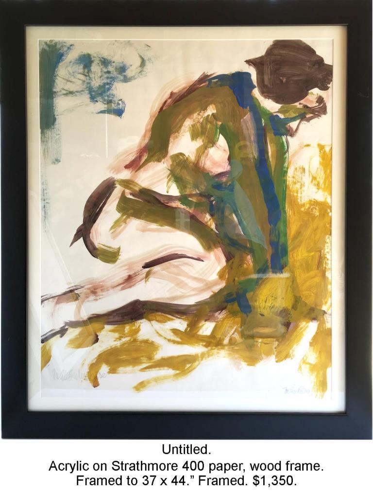 Fred Wise, Untitled Mustard. Acrylic on paper, framed, 36.5 x 43.5, 2009 2016 04 19.jpg