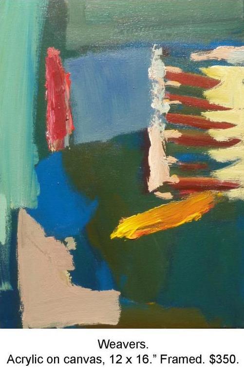 Fred Wise, Weavers. Acrylic on Canvas 12 in x 16 in 2012 2016 04 19.JPG