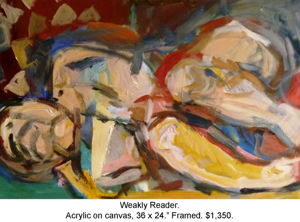 Fred Wise. Weakly Reader, Acrylic on Canvas 36 in. x 24 in. 2014 2016 04 19.JPG