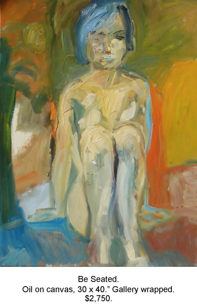 Fred Wise, Be Seated. Oil on canvas, 30 x 40, gallery.jpg