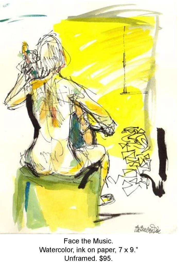 Fred Wise, Face the Music. Watercolor, ink on paper, 7 x 9, 2007.jpg