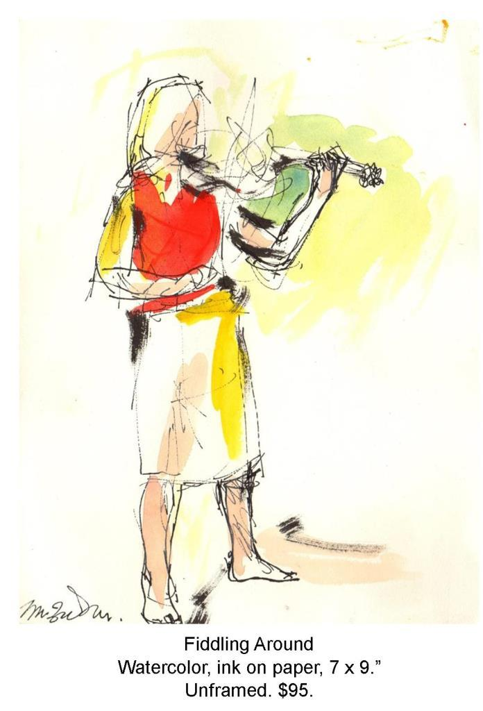 Fred Wise, Fiddling Around. Watercolor, ink on paper, 7 x 9, 2006.jpg