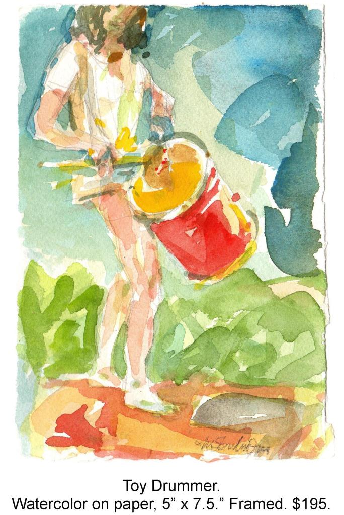 Fred Wise, Toy Drummer. Watercolor, pencil on paper, 5 x 7.5, 2013.jpg