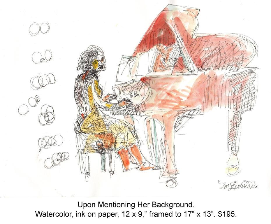 Fred Wise, Upon Mentioning Her Background. Watercolor, ink on paper 12 x 9, 2015, web.jpg