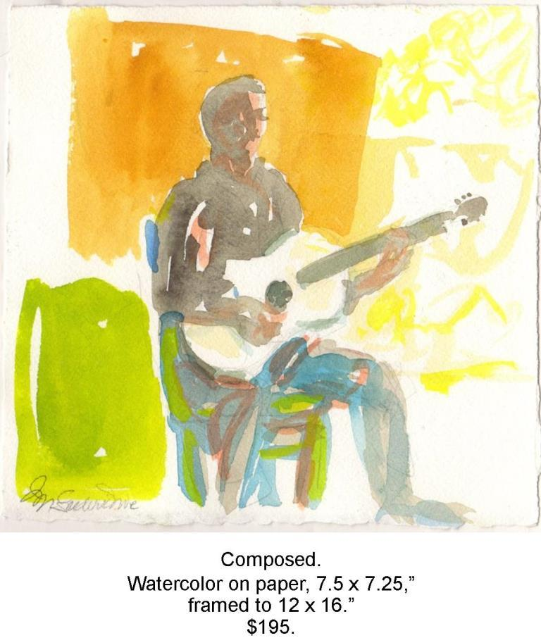 Fred Wise, Composed. Watercolor, pencil on paper, 7.5 x 7.25 2016 04 29.jpg