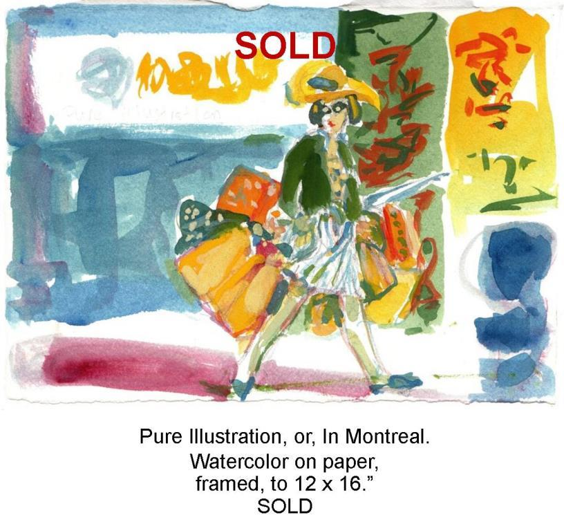SOLD Fred Wise, Pure Illustration, watercolor and pencil on paper, 11 x 8.25, framed, 2012.jpg