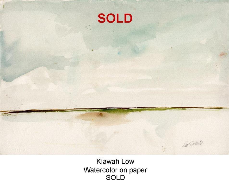 SOLD Fred Wise, Kiawah Low. Watercolor, 15 x 10.25, 2010, web.jpg