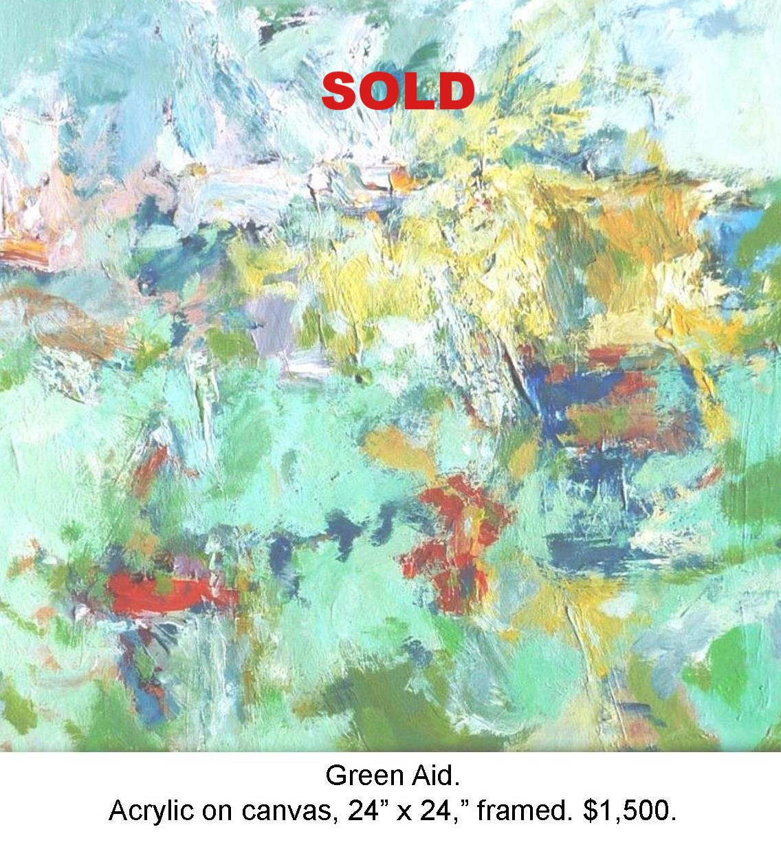 Fred Wise, Green Aid, acrylic on canvas 24 in x 24 in 2013.jpg