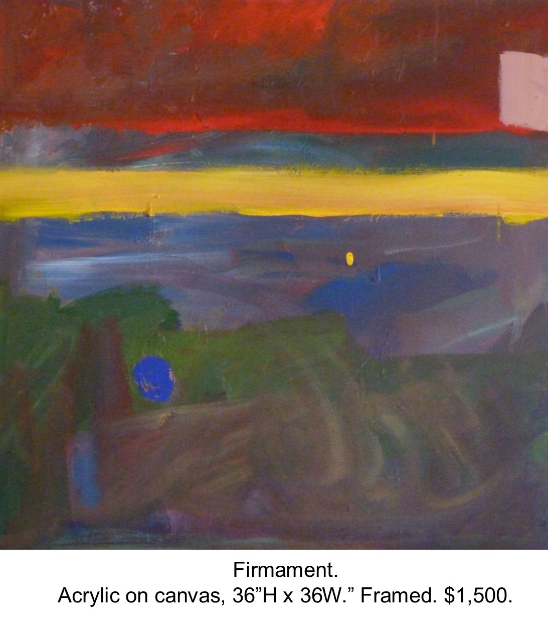 Fred Wise,  Firmament. Acrylic on canvas, 36 x 36..jpg