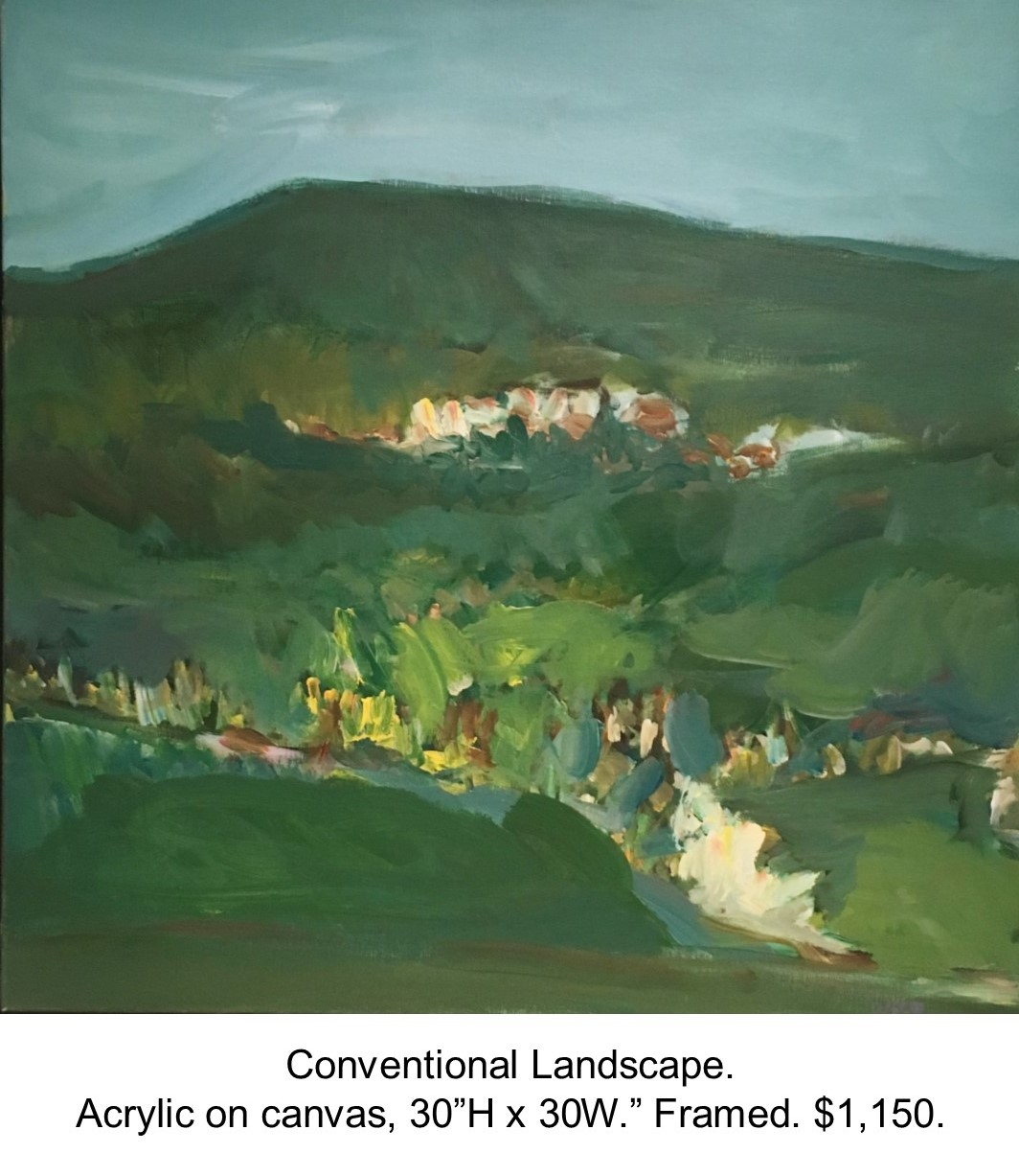 Fred Wise, Conventional Landscape. Acrylic on canvas, 30 x 30..jpg