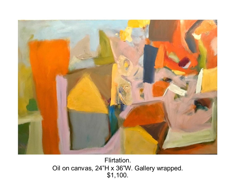 Fred Wise, Flirtation. Oil on canvas, 24 x 36, 2017..jpg