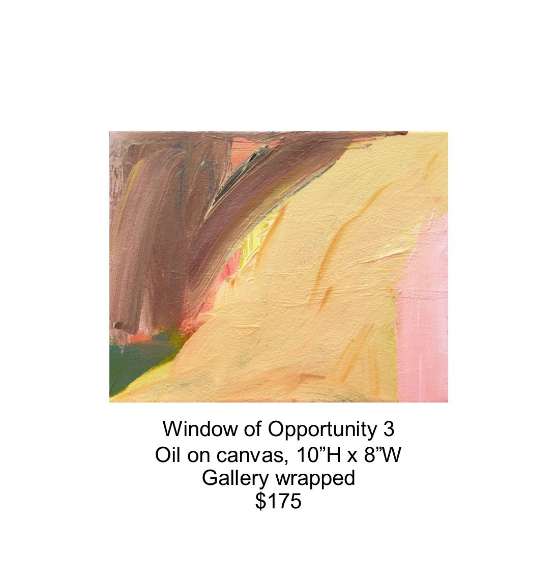 Fred Wise, Window of Opportunity 3. Oil on canvas, 10 x 8, 2017..jpg