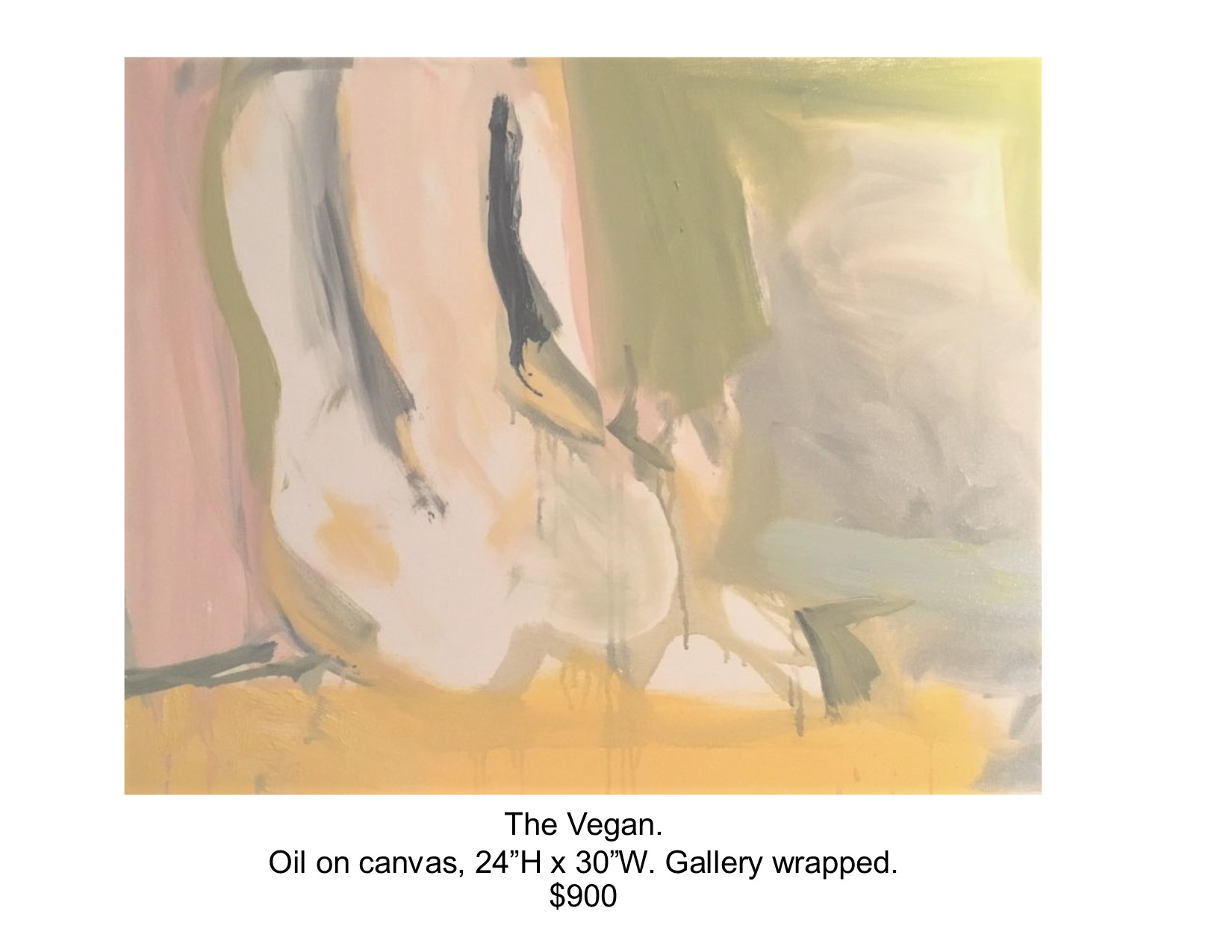 Fred Wise, Vegan. Oil on canvas, 24 x 30, 2017.jpg