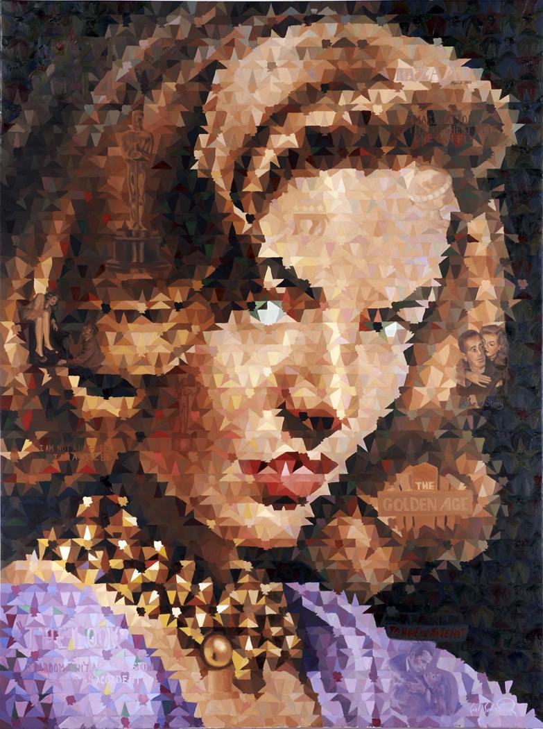 """Lauren Bacall """"The Look"""", 60"""" x 80"""""""