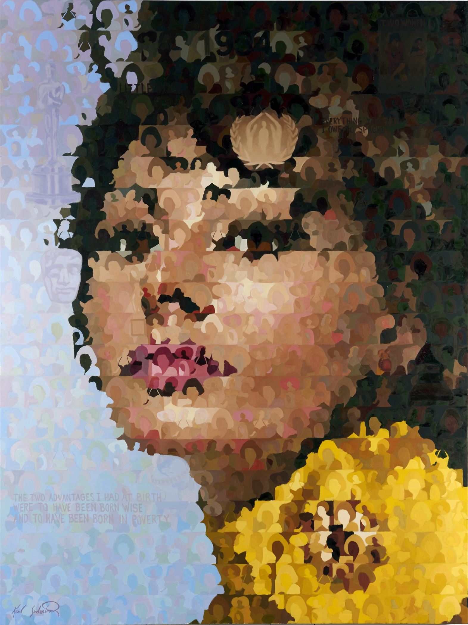 """Sophia Loren, 60"""" x 80"""""""