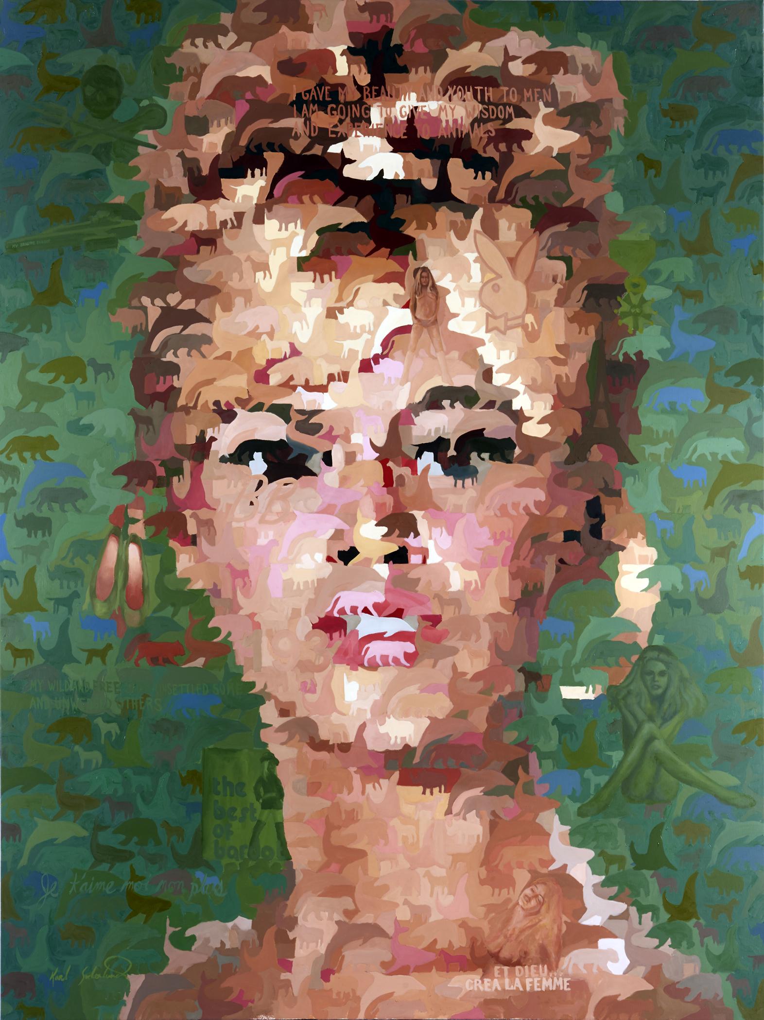 "Brigitte Bardot, 60"" x 80"""