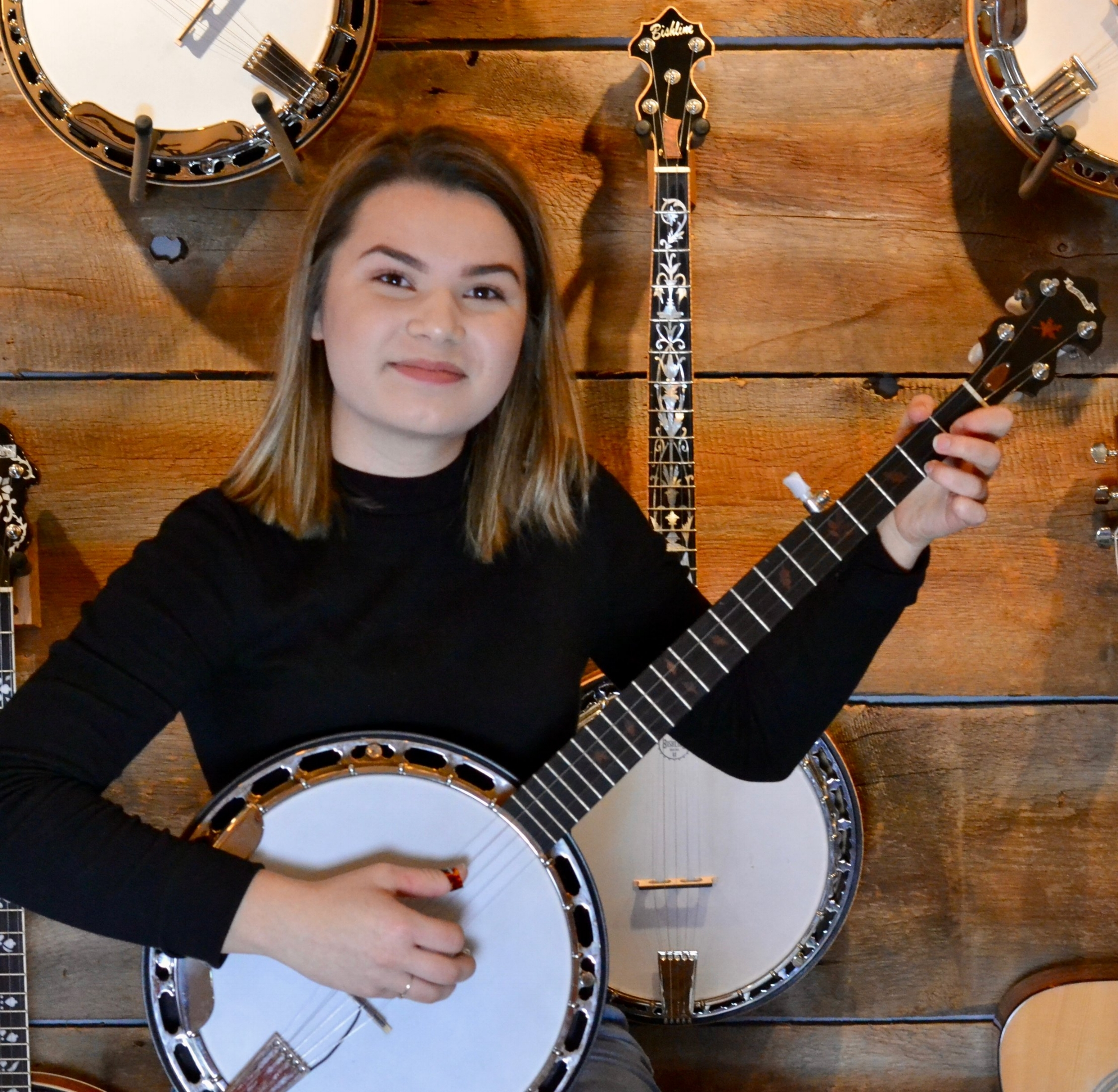 KAYLA BENDER  FIDDLE/VIOLIN, BANJO  Kayla is a super talented musician who has studied for 10 years with Tulsa's finest instructors. Her knowledge and teaching skills are beyond her years!