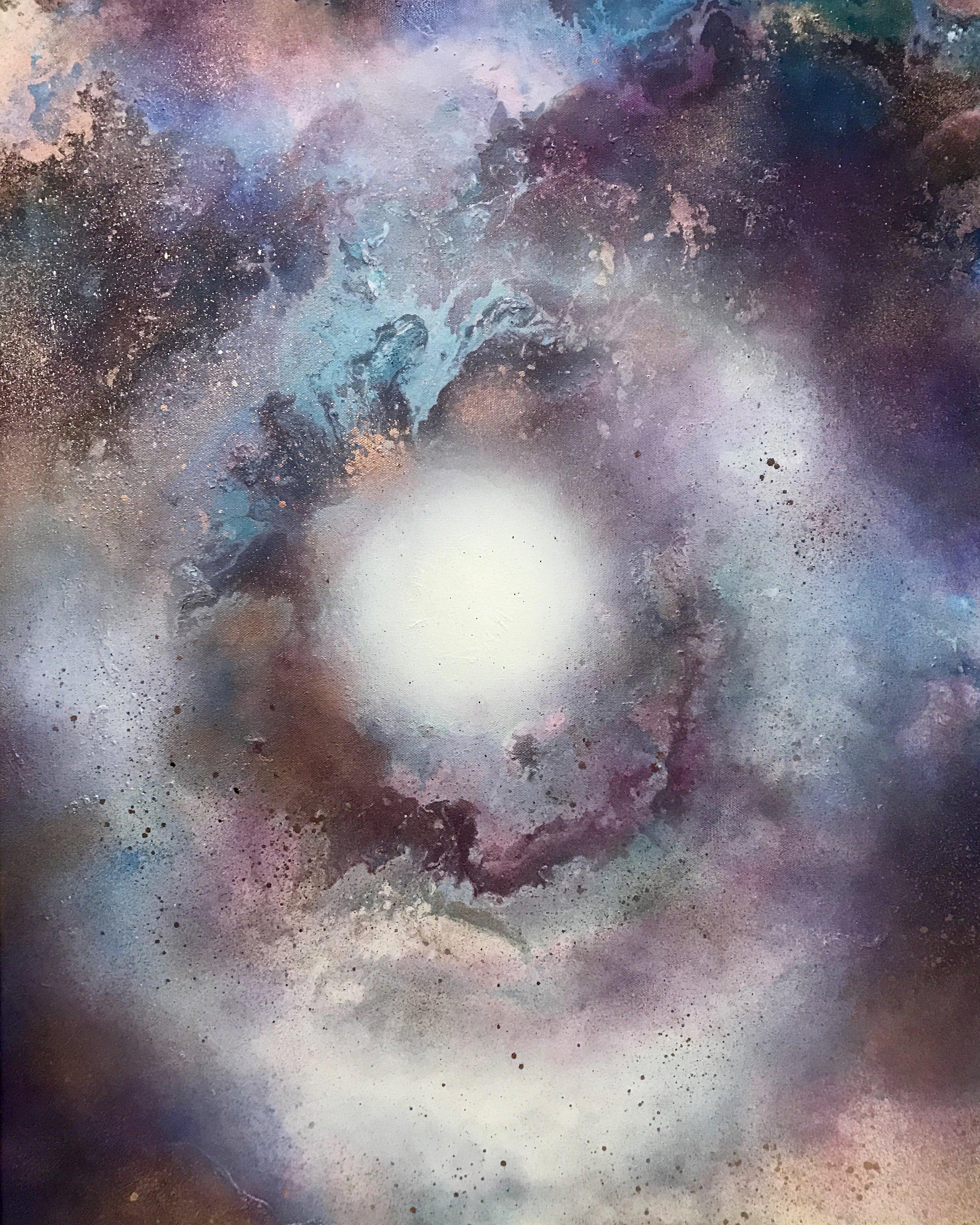 """Metanoia"" 20""x30"" Acrylic & Mixed Media on Canvas, on view at Catskill Art& Office Supply"
