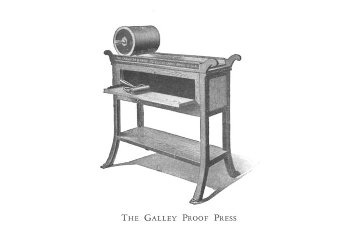 An illustration of the press from the era.