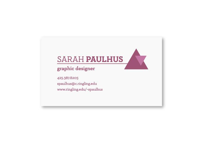 Sarah's Business Card Design