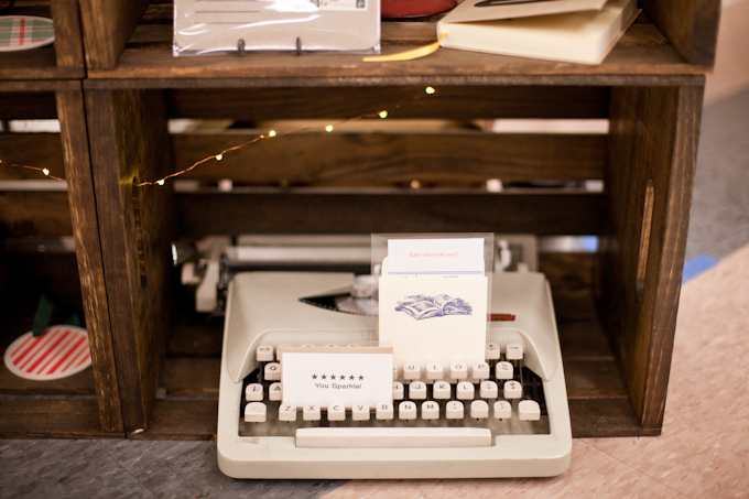 And the typewriter came along for fun