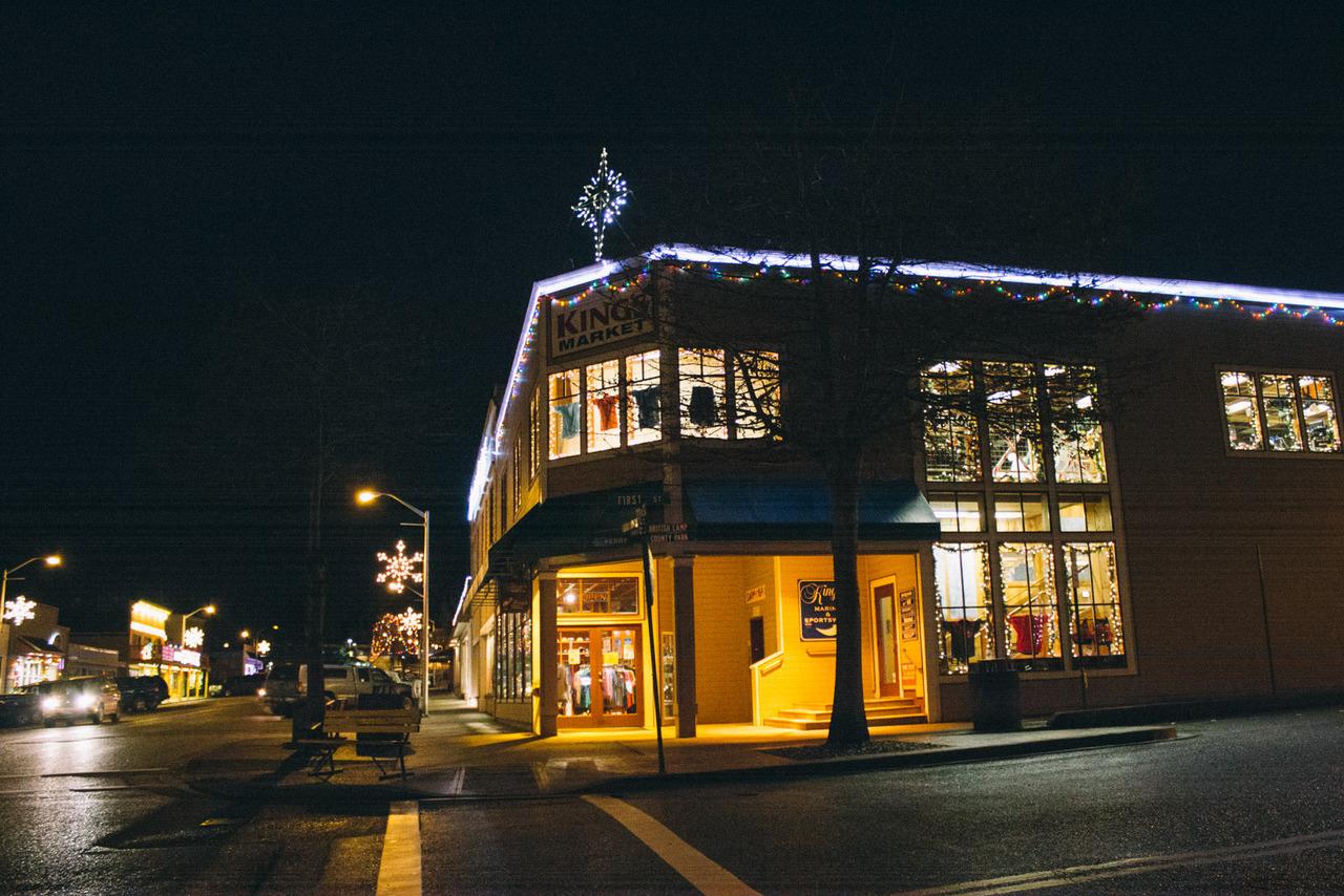 Friday Harbor around Christmas time