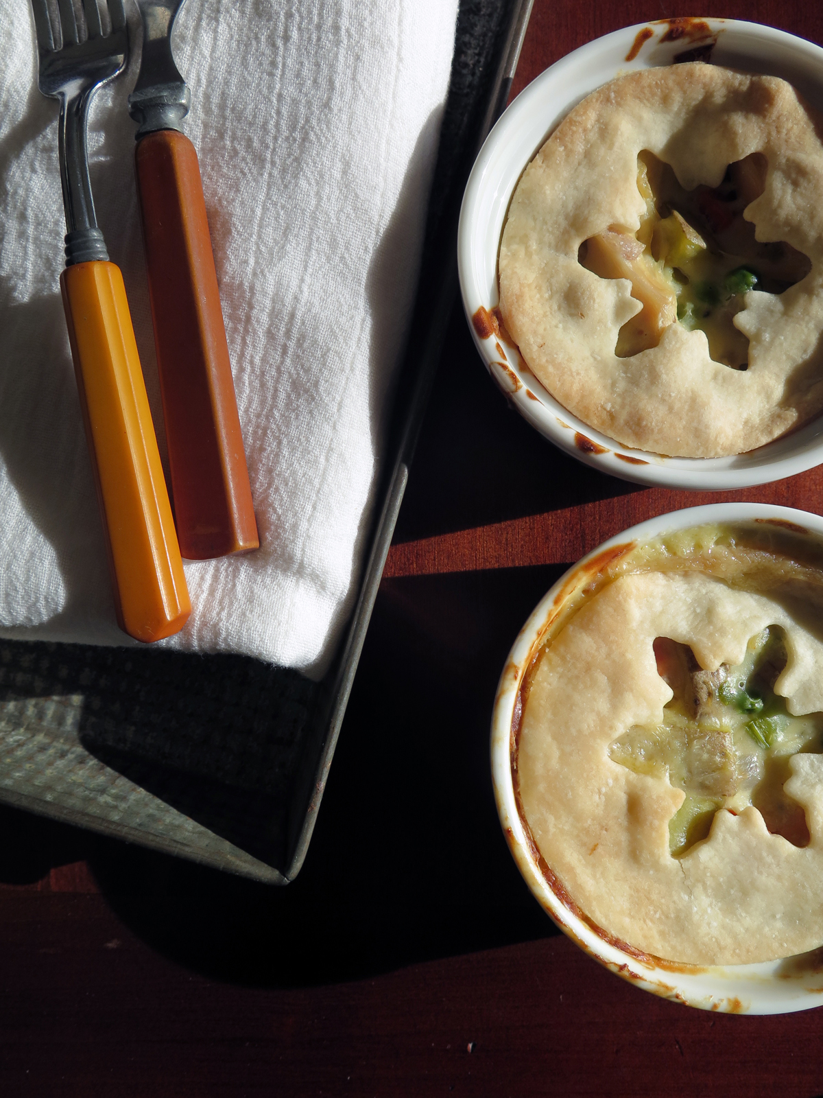 chicken pot pie from snips entwined