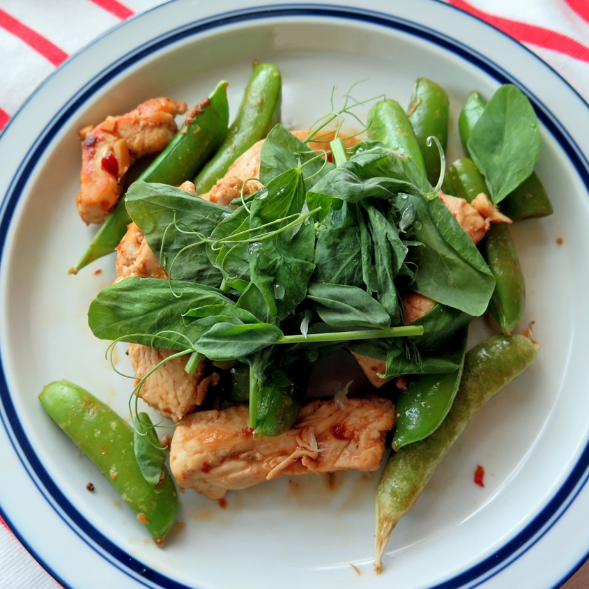Sugar Snap Pea QuIck Dinner