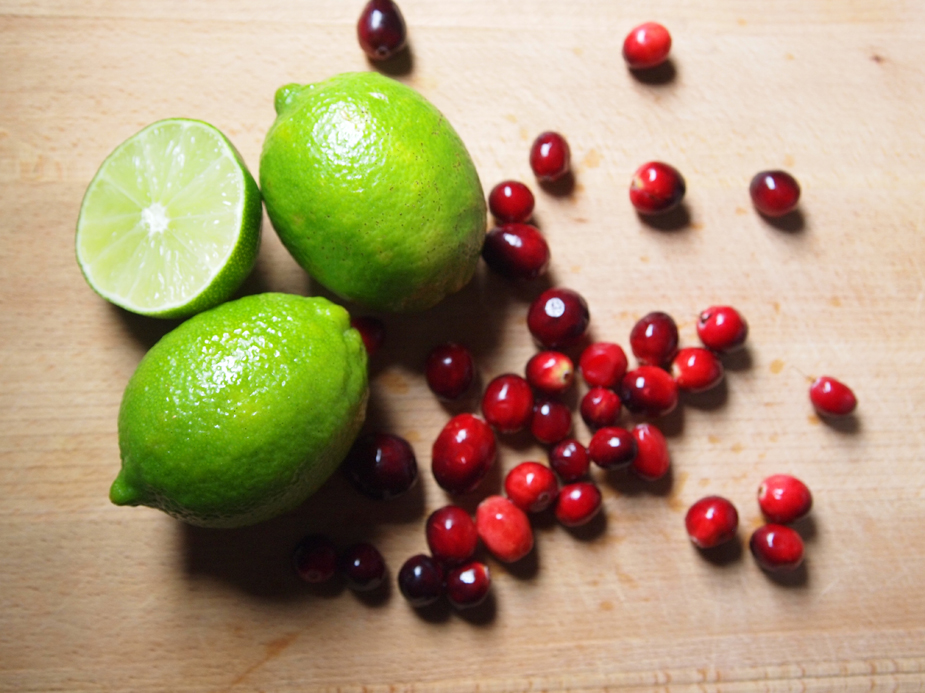cranberry and lime