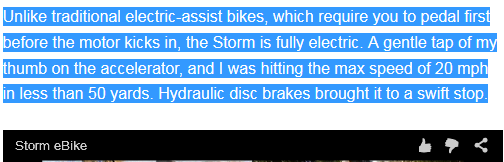 Screenshot of https://www.yahoo.com/tech/the-storm-ebike-a-500-answer-to-gridlock-109526615029.html