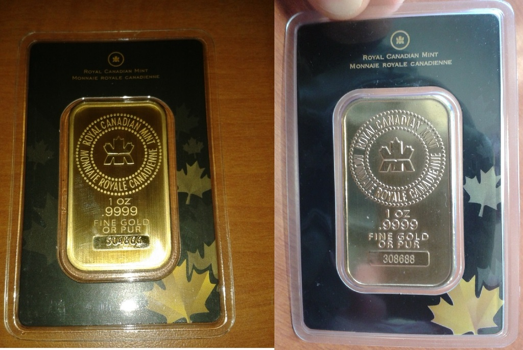 Fake silver RCM bar