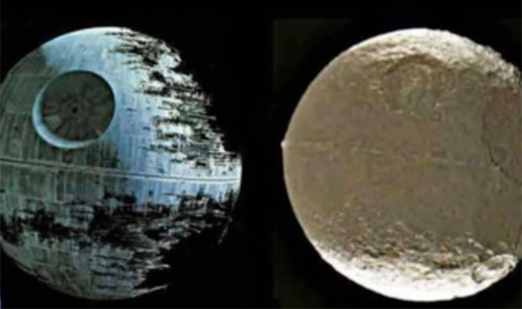 Iapetus resembles the second Death Star