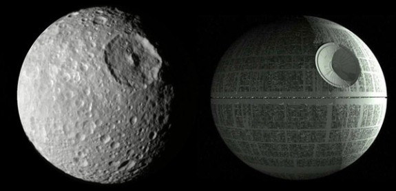Mimas resembles the first Death Star
