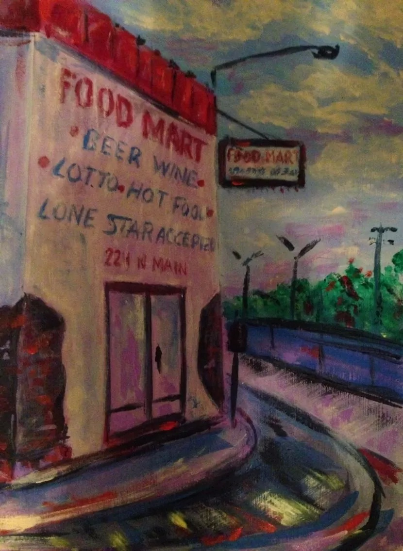 """N Main St Houston, TX series #2""   (sold)"