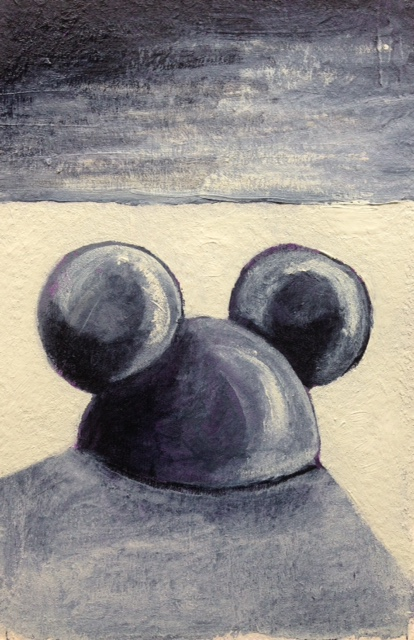 """""""Mickey in Black and White""""    (sold)"""