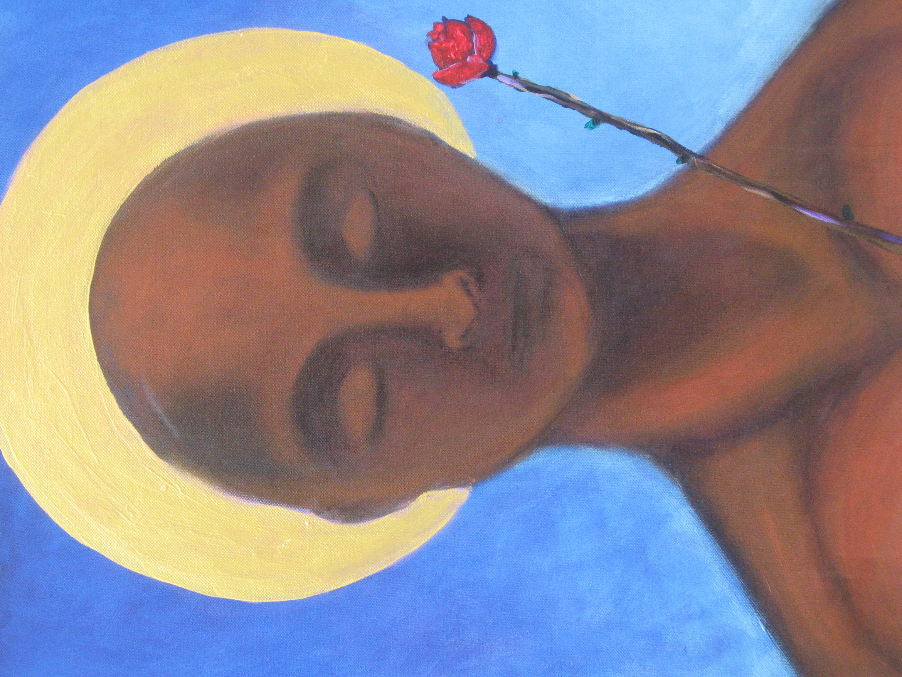 """""""Jesus with Rose""""      (sold)"""