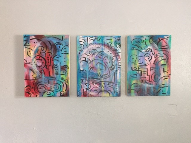 """""""Mickey Abstraction, Triptych #1"""""""