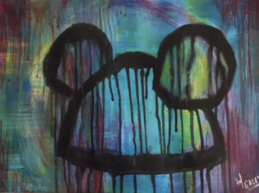 """""""Evening Mickey Abstraction"""""""