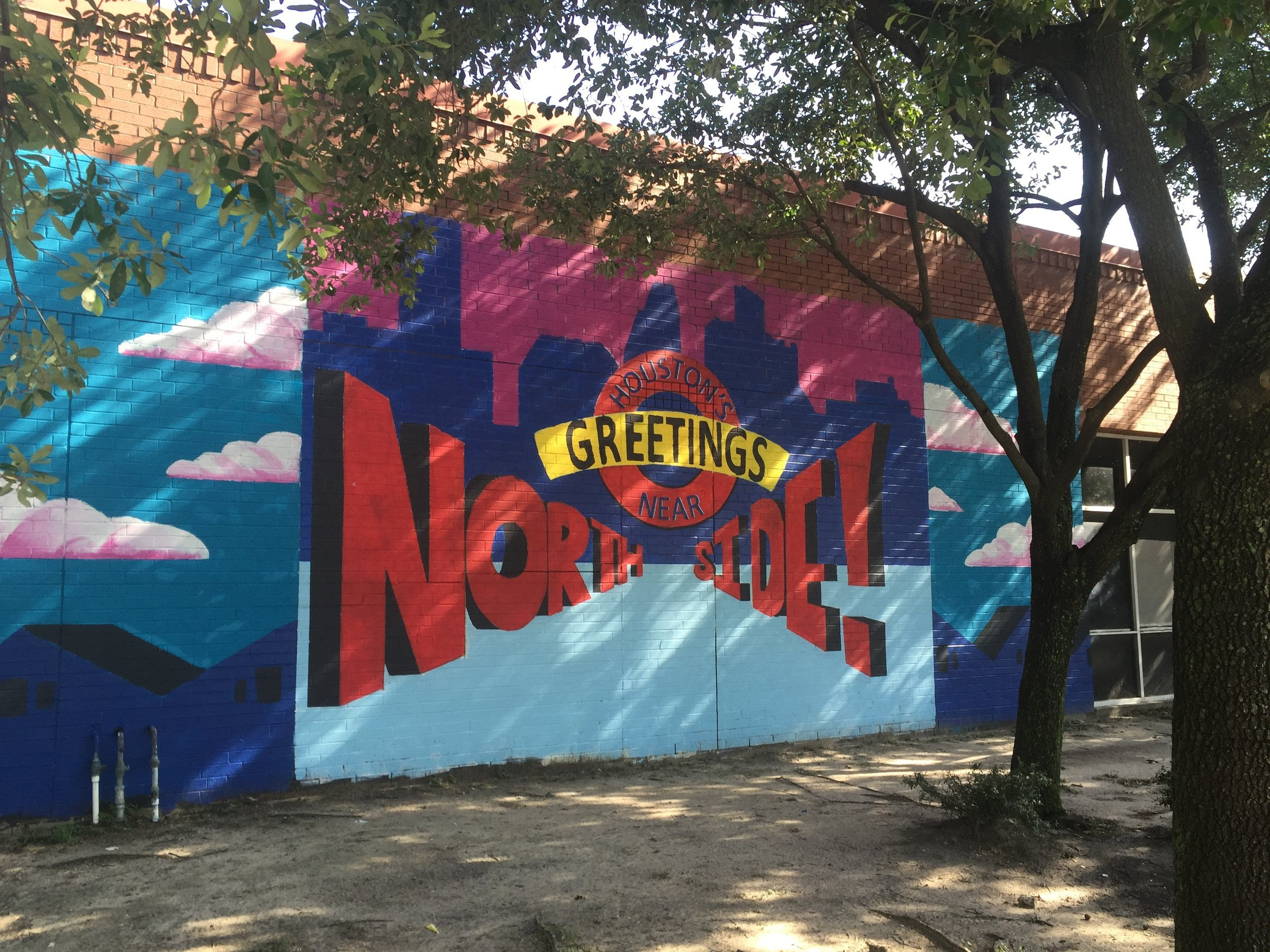 Fulton and Quitman St student mural Houston Texas