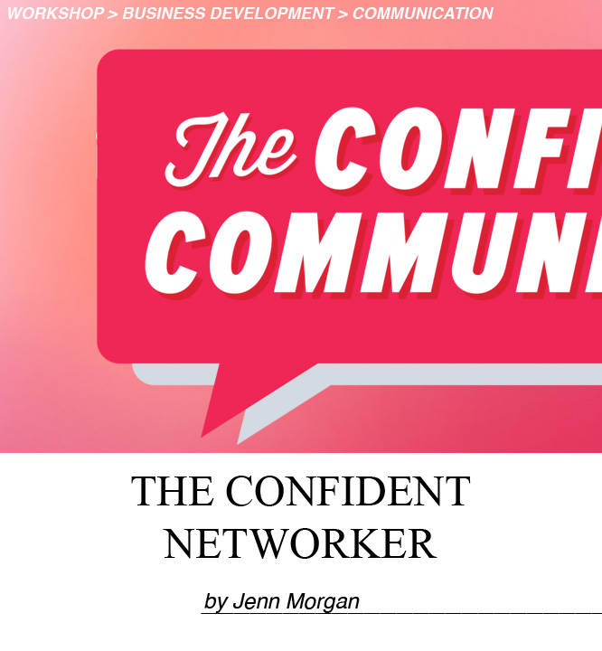 You're the leader of your networking experience. Jenn Morgan shows you how to approach a group cold, have clear intentions and goals for each contact, and exit conversations gracefully.