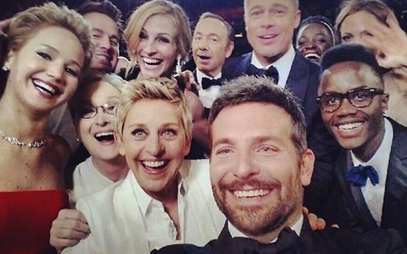 To date, the selfie she orchestrated at the  86th Academy Awards  remains the most retweeted image ever — even beating out Barack Obama's selfie after the 2012 election.