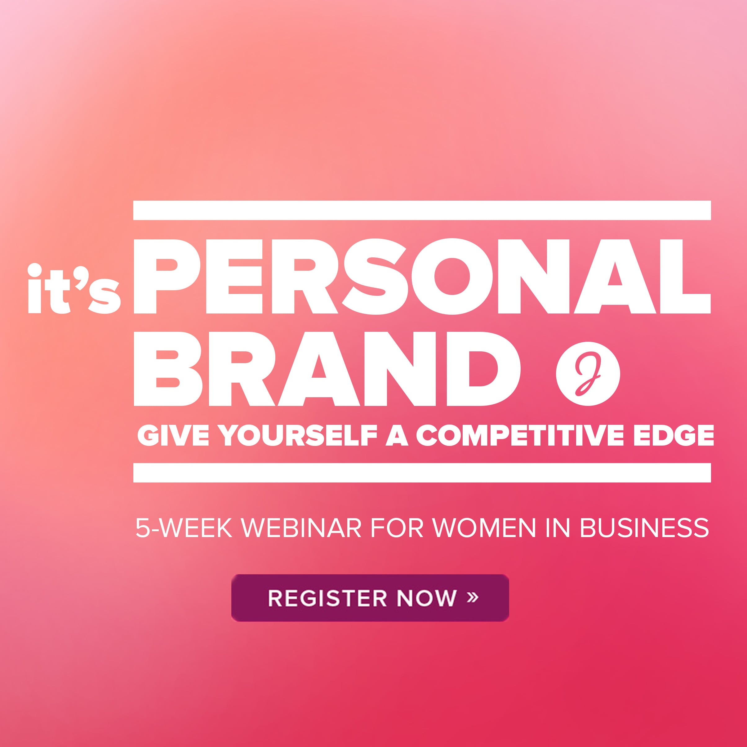 Struggle with self promotion? This 5-week brand strategy webinar helps women become their own best brand manager.  Learn more here.