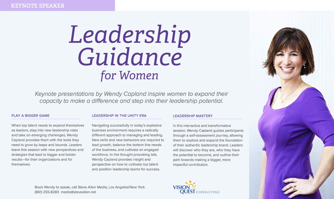 Promotional PDF for Wendy Capland , page 1