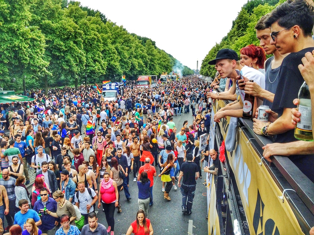 Berlin in July is  Christopher Street Day  (CSD) when Berliners come together to celebrate Pride.