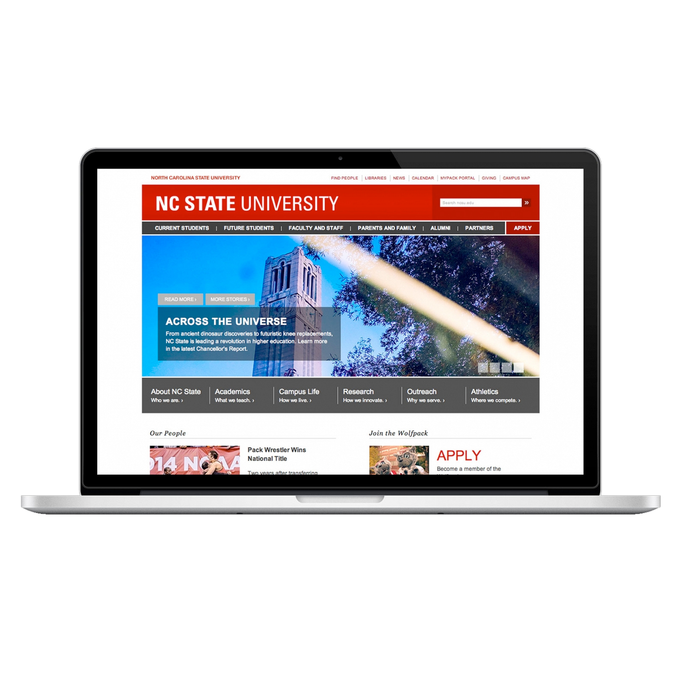 Homepage Story:  A feature story and a long-term brite on ncsu.edu ensure that the report gets noticed by a wider audience through our most visible platform: the Web.