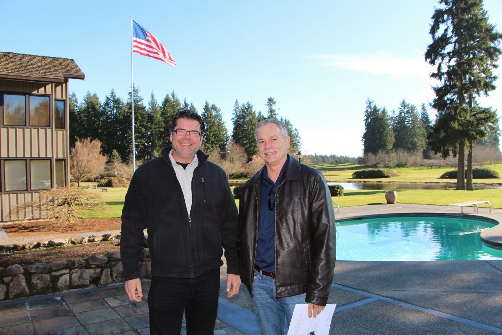 Above:  RSIR  brokers  Enrico Pozzo  and  Barry Bergner  were all smiles during the tour.