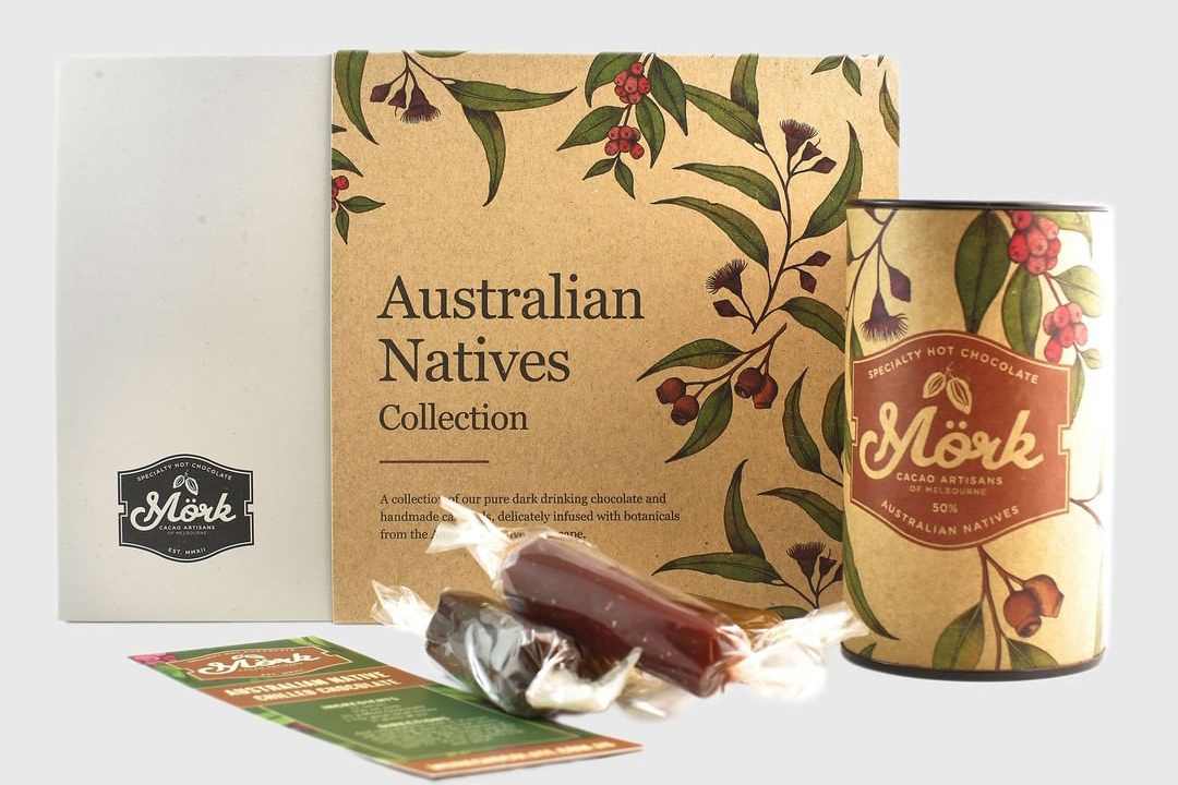 Australian Native Illustration Mork Chocolate