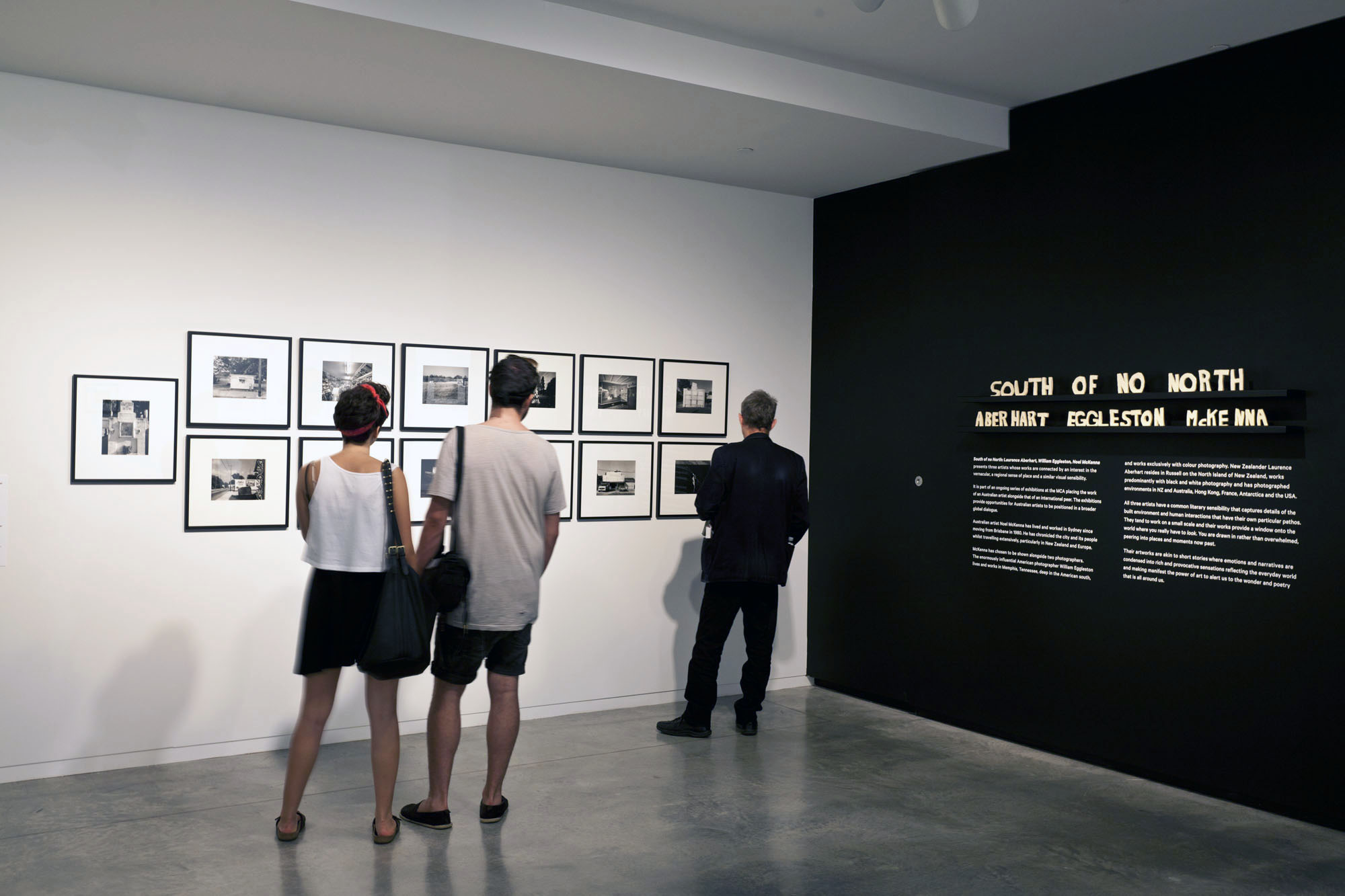 Installation view, South of no North: Laurence Aberhart, William Eggleston and Noel McKenna, Museum of Contemporary Art Australia, 2013.Image courtesy and © the artists.Photograph: Alex Davies