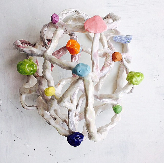 Linda Draper  , Installation detail,  Turn Turn Turn: 50 years of Studio Ceramics tradition at the National Art School