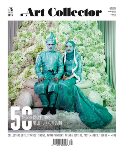 Art Collector (cover: Abdul Abdullah) issue 75,The 50 things collectors need to know in 2016
